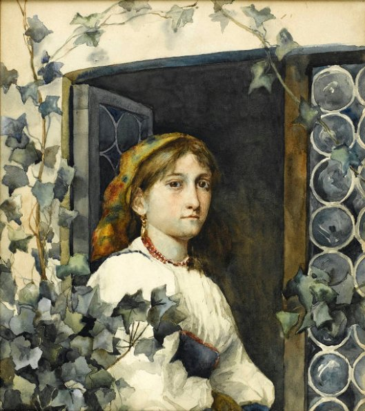 Peasant Girl In Window