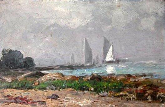 Sailboats Along The Coast
