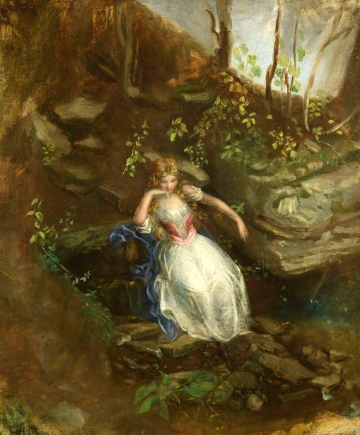Young Girl In A Forest