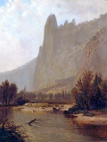 A View Along The Merced River, Yosemite Valley