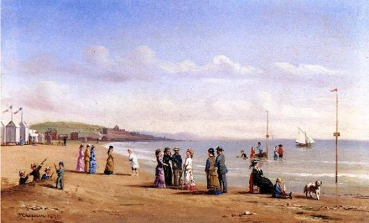 Beach Scene In Normandy