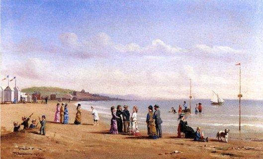 Beach Scene In Normandy