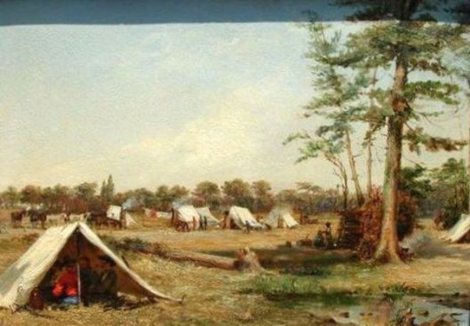 Cavalry Camp Of The Sgt. G. Holcomb Legion, 1863
