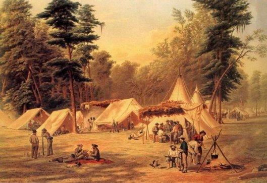 Confederate Camp At Corinth