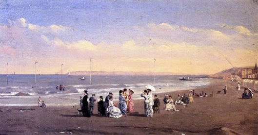 Elegant Figures On A Seashore