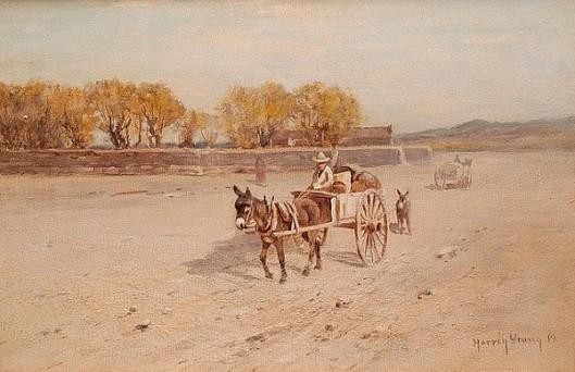 Farmer In His Wagon - Burro-Drawn Carts