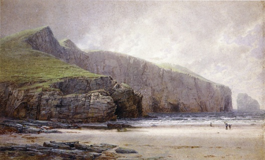 Fishermen On The Shore, Trebarwith Strand, Cornwall