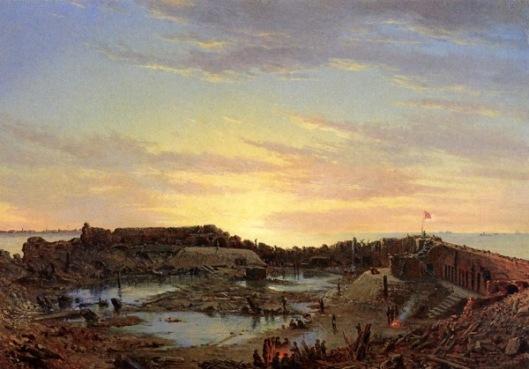 Fort Sumter, Interior, Sunrise, Dec. 9, 1863