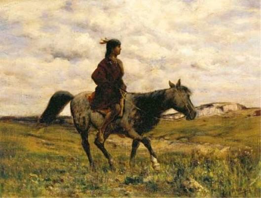 Indian Girl On Horseback