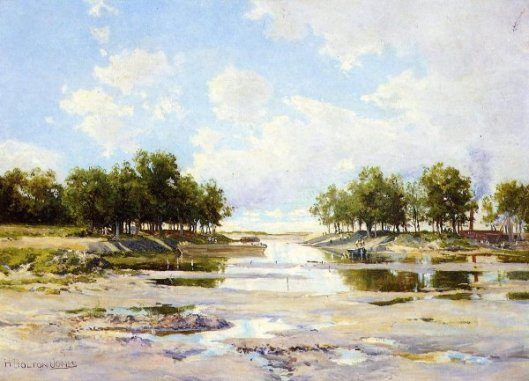 Inlet At Low Tide