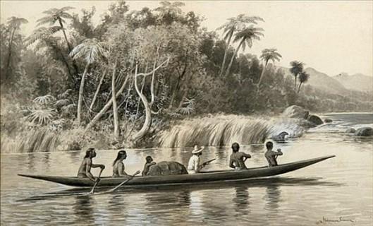 Jungle Landscape With Canoe