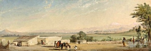 Valley Of Mexico From The Hacienda Morales With View Of Chapultepec