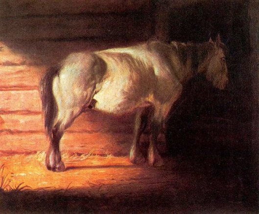 Old Field Horse - Stable Scene