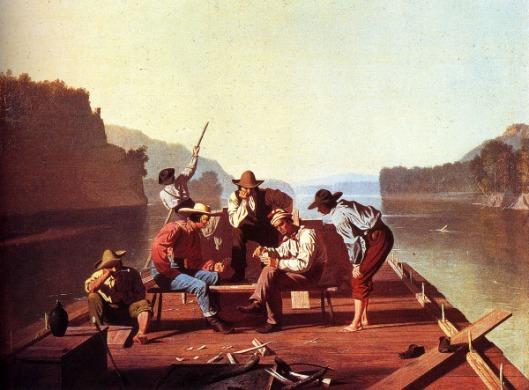 Raftsmen Playing Cards