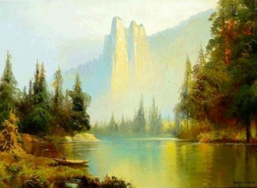 Sentinel Rock From The Merced River, Yosemite Valley