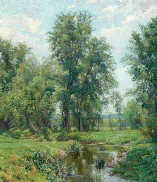 Springtime In Old Lyme, Connecticut - The Brook In June