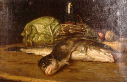 Still Life With Fish And Vegetables