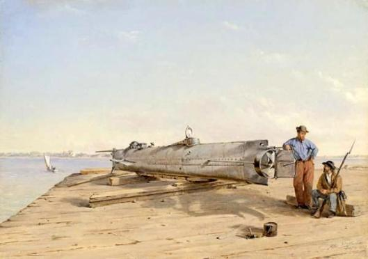 Submarine Torpedo Boat H. L. Hunley, Charleston, Dec. 3, 1863