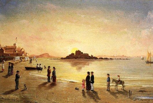 Sunset At Saint Malo