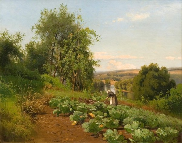 Simon hermann g american gallery 19th century for Tending to the garden