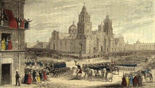 The American Army, Under General Scott, Entering The City Of Mexico