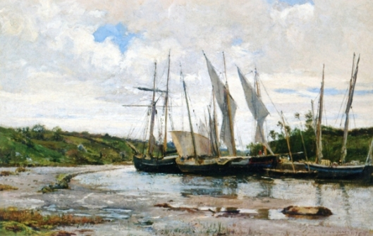 The Harbor At Pont Aven