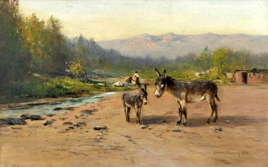 Two Burros On The Cripple Creek Road