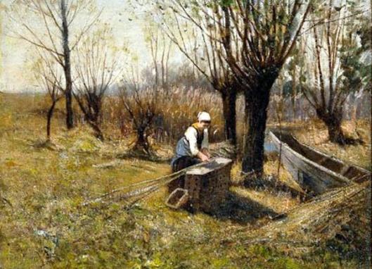 Woman Gathering Reeds