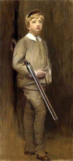 Young Boy With A Shotgun