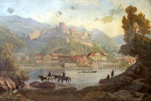 A View Of Heidelberg Castle