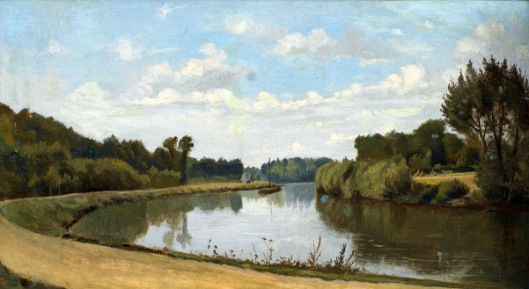 Barge On The Oise River Near Paris