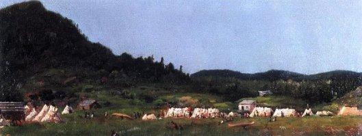 Camp Scene At Grand Portage