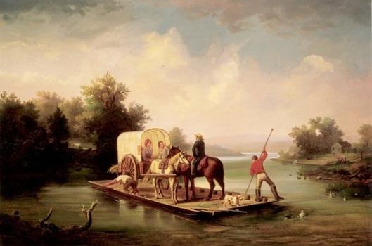 Crossing The Ferry - Scene On The Pee Dee