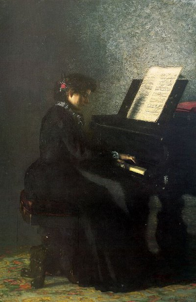 Elizabeth At The Piano