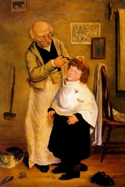 Getting His Hair Cut