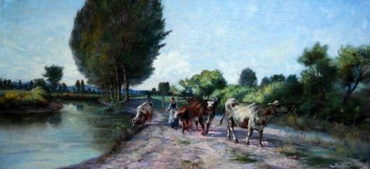 Herding Cows Along The Jordan River