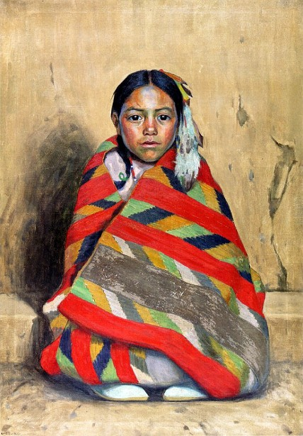 Indian Girl In A Blanket