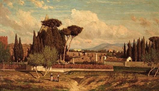 Italianate Landscape With Classical Ruins, Rome