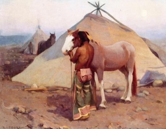 Klikitat Indian With Pony