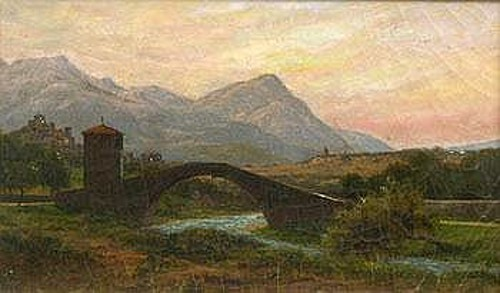 Landscape With Bridge Over A River