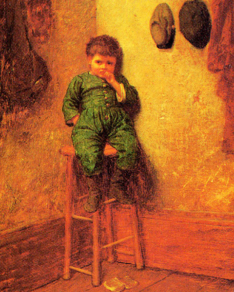 Little Boy On A Stool