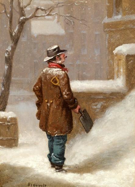 Looking For A Job - Snow Shoveller