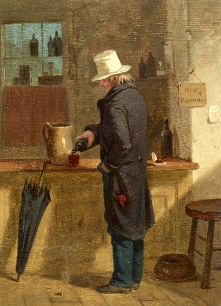 Man Pouring A Drink At A Bar