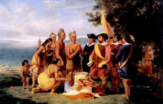 Purchase Of Manhattan Island From The Indians By The Dutch In 1626 - Study