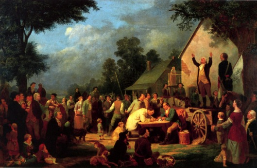 Recruiting For The Continental Army (unfinished and completed by Charles F. Blauvelt)