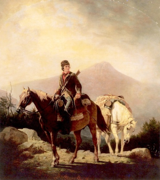 Squire Boone Crossing The Mountains With Stores For His Brother Daniel, Encamped In The Wilds