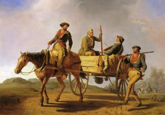 Veterans Of 1776 Returning From The War