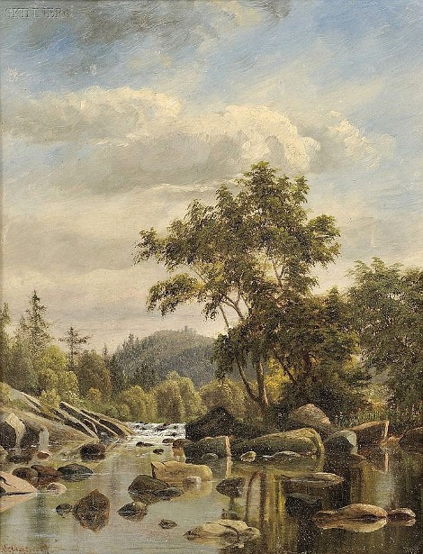 View Of A River In Spring