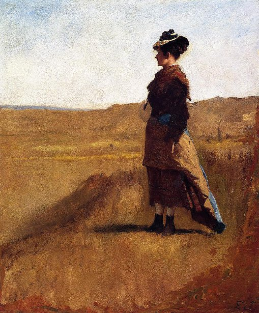 Woman On A Hill