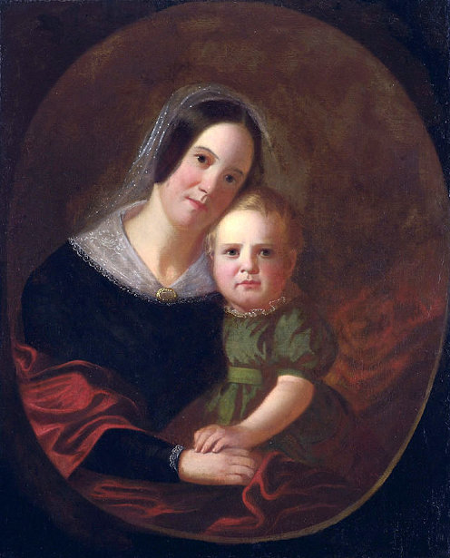 Mrs. George Caleb Bingham (Sarah Elizabeth Hutchison) And Son, Newton